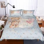 Teddy Bear Dream Printed Bedding Set Bedroom Decor