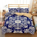 Paisley Flower Design Printed Bedding Set Bedroom Decor