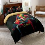 Piano Watercolor Printed Bedding Set Bedroom Decor