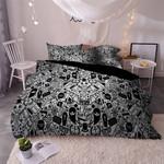 Sugar Skull Black And White Printed Bedding Set Bedroom Decor