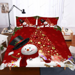 3d Christmas Snow Man Bedding Set Bedroom Decor