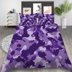Purple Camouflage Printed Bedding Set Bedroom Decor