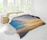 3d Blue Sea Beach Palm Tree Surfboard Bedding Set Bedroom Decor