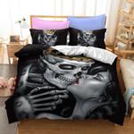 Skull King Kiss My Lady Bedding Set Bedroom Decor