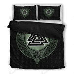 Viking Celtic Pattern Black Bedding Set Bedroom Decor