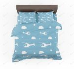Helicopters And Clouds Designed Bedding Set Bedroom Decor