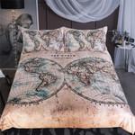 World Map Vintage Bedding Set Bedroom Decor