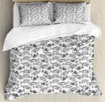 Marine Animals With Lines Bedding Set Bedroom Decor