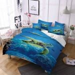 Under The Sea Turtle Printed Bedding Set Bedroom Decor