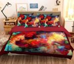 3D Colorful Smoke Printed Bedding Set Bedroom Decor