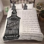 Whiskey Wine Vodka Bedding Set Bedroom Decor