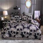 The Death Skull Printed Bedding Set Bedroom Decor