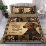 Doberman Dog I'll Be There Beside You Bedding Set Bedroom Decor