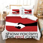Show Racism The Red Card Bedding Set Bedroom Decor