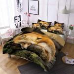 Sleeping Fox Printed Bedding Set Bedroom Decor