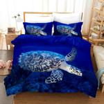 3d Blue Sea Turtle Bedding Set Bedroom Decor