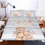 Teddy Bear Theme Digital Printed Bedding Set Bedroom Decor