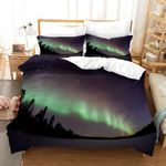 3d Star Sky Pine Forest Aurora Printed Bedding Set Bedroom Decor