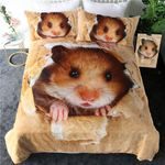 Papery Hamster Taupe Bedding Set Bedroom Decor