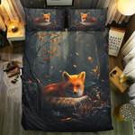 Fox Dark Mountain Printed Bedding Set Bedroom Decor