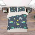3d Cartoon Green Dinosaurs Pattern Bedding Set Bedroom Decor