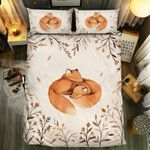 Fox And Wild Flower Printed Bedding Set Bedroom Decor