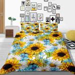 Sunflowers Daisy Flower Printed Bedding Set Bedroom Decor