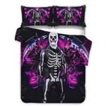 Galaxy Skull Storm Shield Printed Bedding Set Bedroom Decor