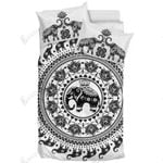 White Mandala Design Elephant Bedding Set Bedroom Decor