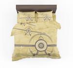Super Vintage Propeller Designed Bedding Set Bedroom Decor