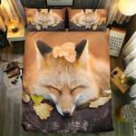 Fox Sleeping Printed Bedding Set Bedroom Decor