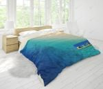3d Blue Sea Boat Comfortable Bedding Set Bedroom Decor