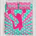 Pink Cheerleading Tie Dye Star Bedding Set Bedroom Decor