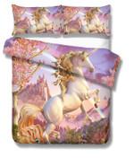 3d Charming Unicorn Pink Bedding Set Bedroom Decor