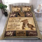 Pitbull Look Right Beside You I'll Be There Bedding Set Bedroom Decor
