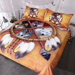 Wolf Native American Dreamcatcher Bedding Set Bedroom Decor