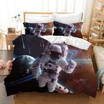 3d Astronaut Planet Universe Bedding Set Bedroom Decor