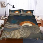 3d Abstract Sunrise Sea Bedding Set Bedroom Decor