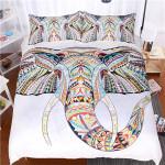 Textured Elephant White Bedding Set Bedroom Decor