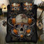 Diving Skull Shark Printed Bedding Set Bedroom Decor
