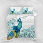 3d Blue Peacock Bedding Set Bedroom Decor