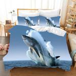 3d Blue Shark Sea Bedding Set Bedroom Decor