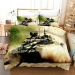 3d Tank Blue Smoke Bedding Set Bedroom Decor