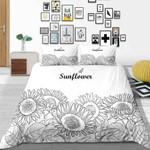 Sunflower Queen Over Printed Bedding Set Bedroom Decor