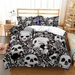 3d Print Skull Bedding Set Bedroom Decor