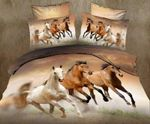 Animal Horse Printed Bedding Set Bedroom Decor