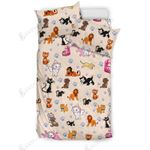 Cute Cats Pattern Printed Bedding Set Bedroom Decor