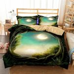 Framed Moonlit Night Printed Bedding Set Bedroom Decor