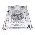 Black And White Angry Owl Bedding Set Bedroom Decor