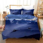 3d Blue Sky Fighter Bedding Set Bedroom Decor